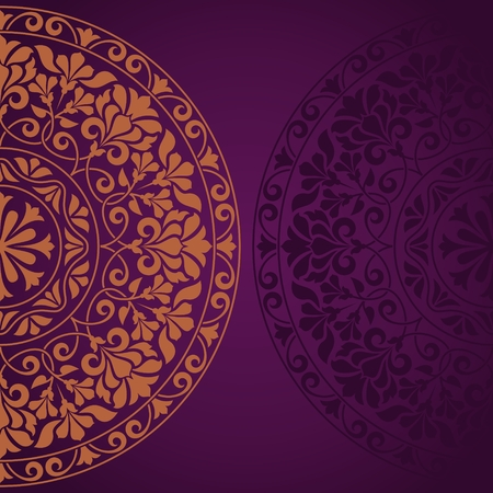 Floral Indian pattern.  Vector