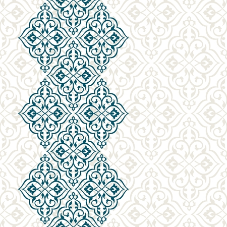 Vintage invitation card with persian pattern.
