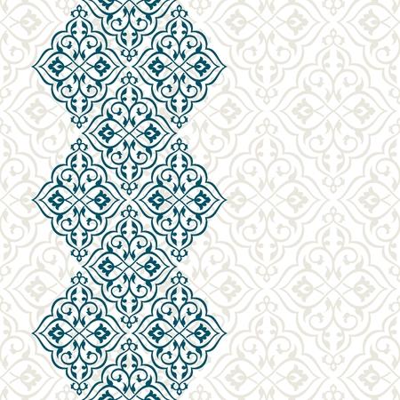 Vintage uitnodigingskaart met Perzisch patroon.