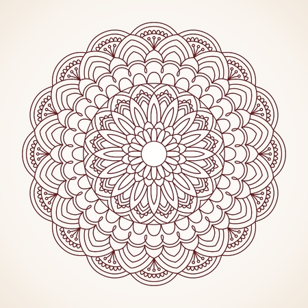 mendie: Ornamental round lace pattern. Illustration
