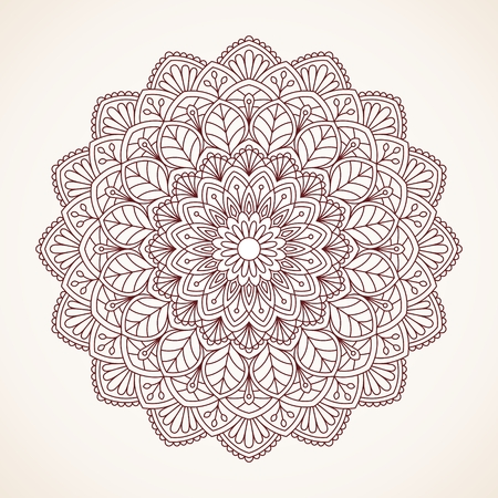 mendie: Ornamental round lace pattern. Illustration