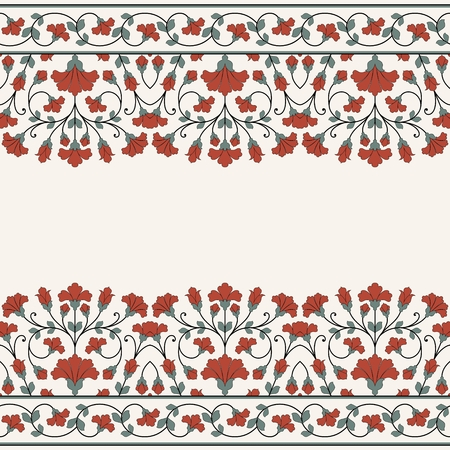 decorative border: Invitation card with floral ornament.