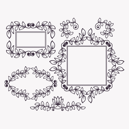 headpiece: Set of frames and borders. This is file of EPS10 format.