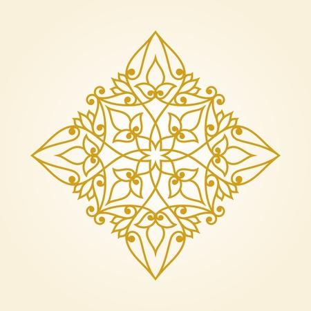 stile: Ornamental floral element for design in vintage stile.