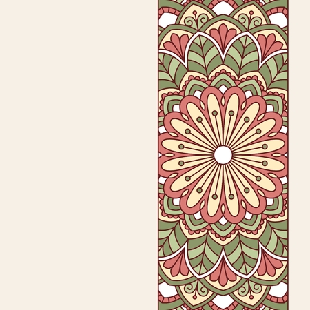 semicircle: Floral oriental pattern. This is file of EPS10 format.