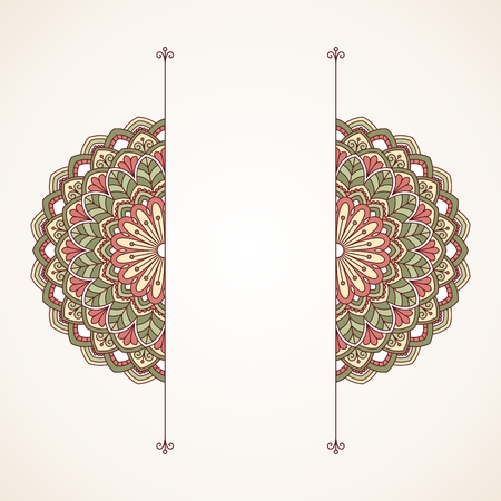 circle flower: Floral oriental pattern. This is file of EPS10 format.