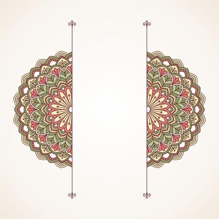 borde de flores: Modelo oriental floral. Este es un archivo de formato EPS10.