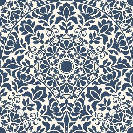 東洋のシームレスなパターン。  イラスト・ベクター素材
