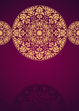 motif indiens: Indian Pattern Floral. Illustration