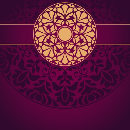 semicircle: Floral Indian pattern.