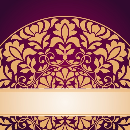 semicircle: Floral Indian pattern. This is file of EPS10 format.