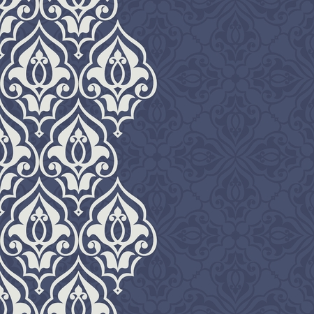 persian: Vintage invitation card with persian pattern. 10 eps.