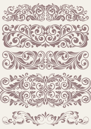 Set vintage ornate borders. This is file of EPS10 format.