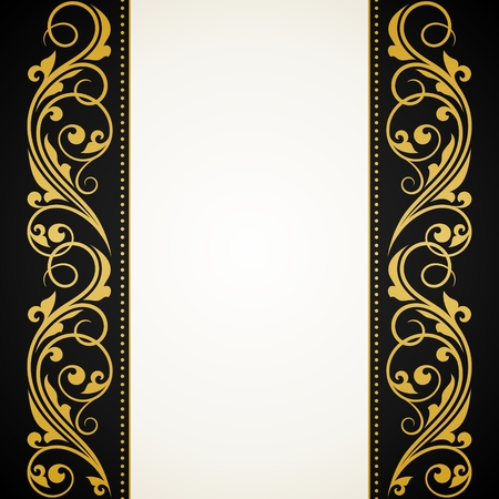 baroque frame: Vintage greeting card.