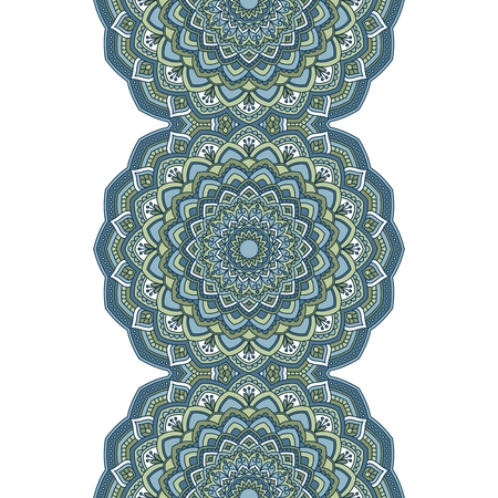 islamic pattern: Floral oriental pattern.  Illustration