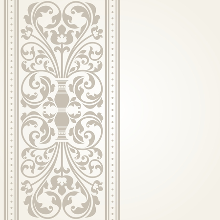 damask wallpaper: Vintage greeting card. This is file of EPS10 format.