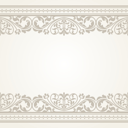 damask border: Vintage greeting card. This is file of EPS10 format.
