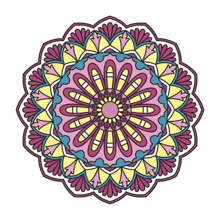 mendie: Ornamental round lace pattern.
