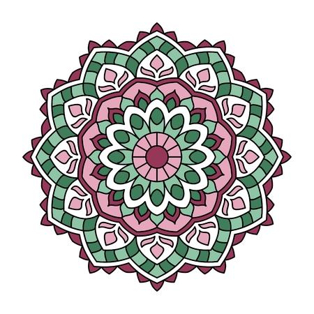 mendie: Ornamental round lace pattern. EPS 10 format.