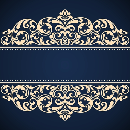 victorian frame: Vintage greeting card. This is file of EPS10 format.