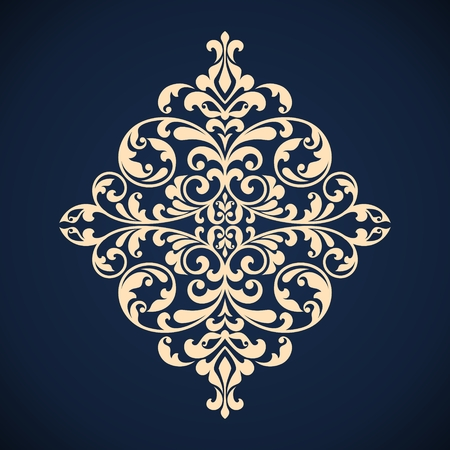 Ornamental floral element for design in vintage stile.