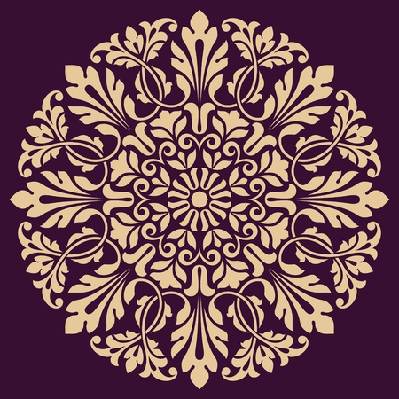 round: Ornamental round lace pattern. This is file of EPS10 format.