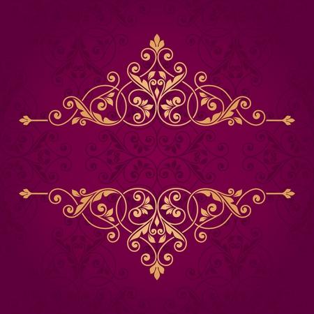 arabische letters: Floral wenskaart.