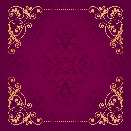 baroque pattern: Floral greeting card. Illustration