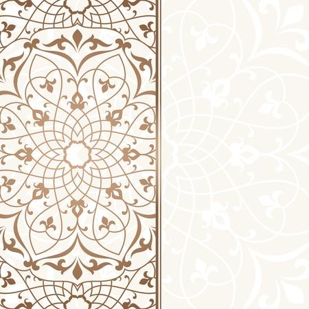 invitaci�n vintage: Arabic vintage invitation card.