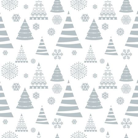 Christmas seamless pattern. Blue background with snowflakes.
