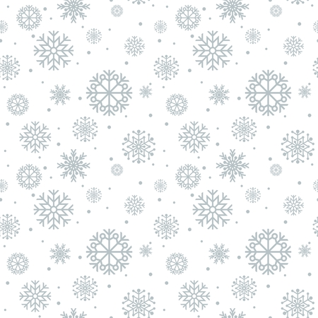 retro christmas tree: Christmas seamless pattern. Blue background with snowflakes.