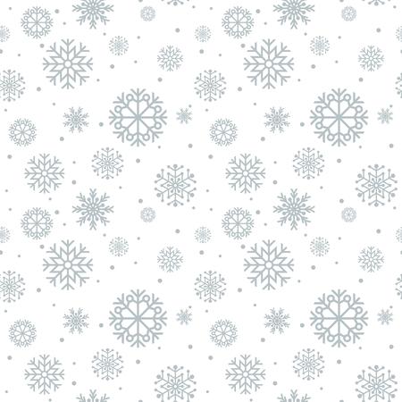 Kerst naadloze patroon. Blauwe achtergrond met sneeuwvlokken.