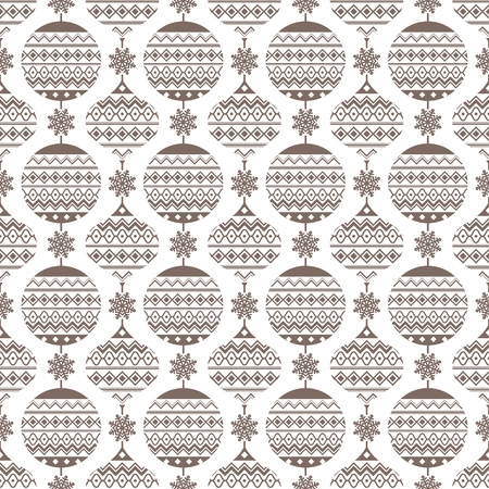 Christmas seamless pattern. Background with snowflakes and christmas balls.