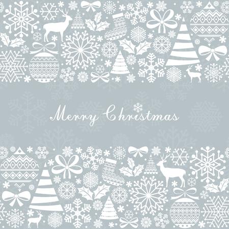 neige noel: Carte de voeux de No�l. �l�ments vintages de No�l et du Nouvel An.