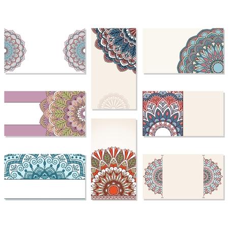 Conjunto de tarjetas de visita ornamentales. Este es un archivo de formato EPS10.