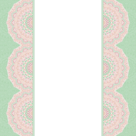 indische muster: Floral oriental pattern. This is file of EPS10 format.