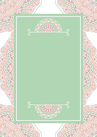 indian traditional: Floral oriental pattern. This is file of EPS10 format.