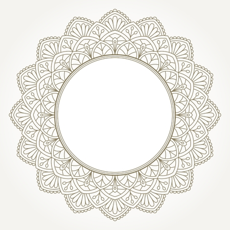Ornamental round lace pattern with place for text. Illustration