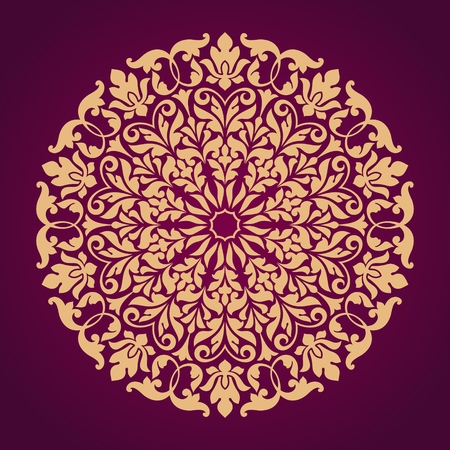 ornamental pattern: Ornamental round lace pattern. Illustration