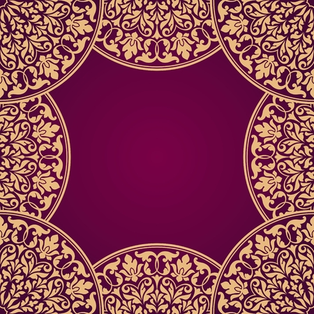 indian traditional: Floral Indian pattern. Illustration