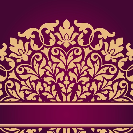 Floral Indian pattern. Ilustrace