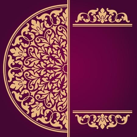 インド花柄。  イラスト・ベクター素材