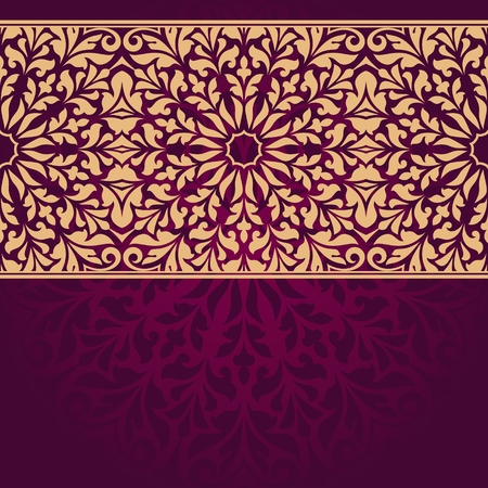 Floral indischen Muster.