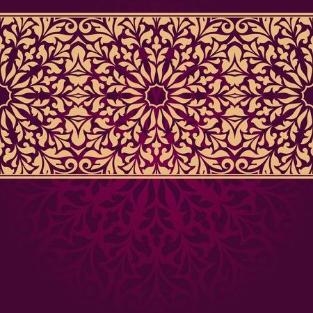 indian pattern: Floral Indian pattern. Illustration