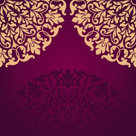 indische muster: Floral indischen Muster. Illustration