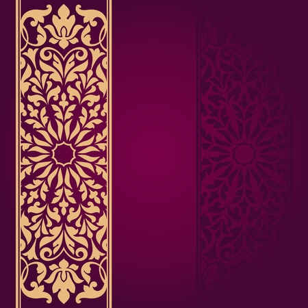 semicircle: Floral Indian pattern. Illustration
