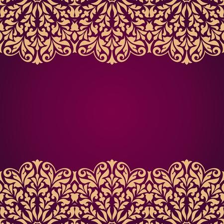 Floral indischen Muster. Standard-Bild - 52411758