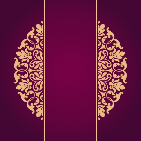 backgrounds: Floral Indian pattern. Illustration