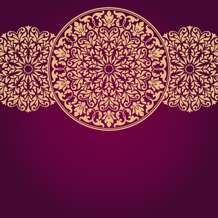 india pattern: Floral Indian pattern. Illustration
