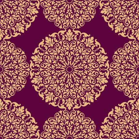 semicircle: Seamless oriental pattern.